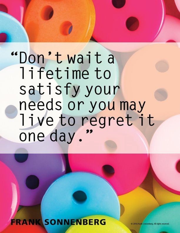 Don't Wait A Life-Time To....