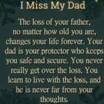 The Loss Of Your Father...