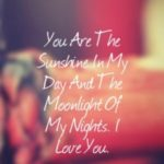 You Are The Sunshine In My...