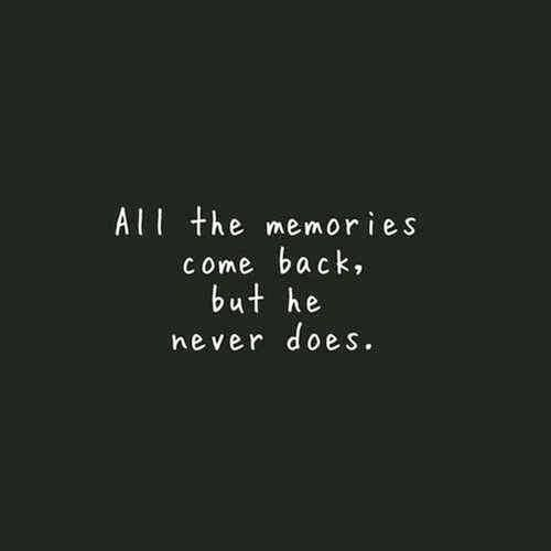 All The Memories Come...