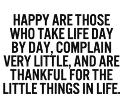 Happy Are Those Who...
