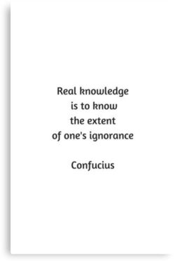 Real Knowledge Is To...