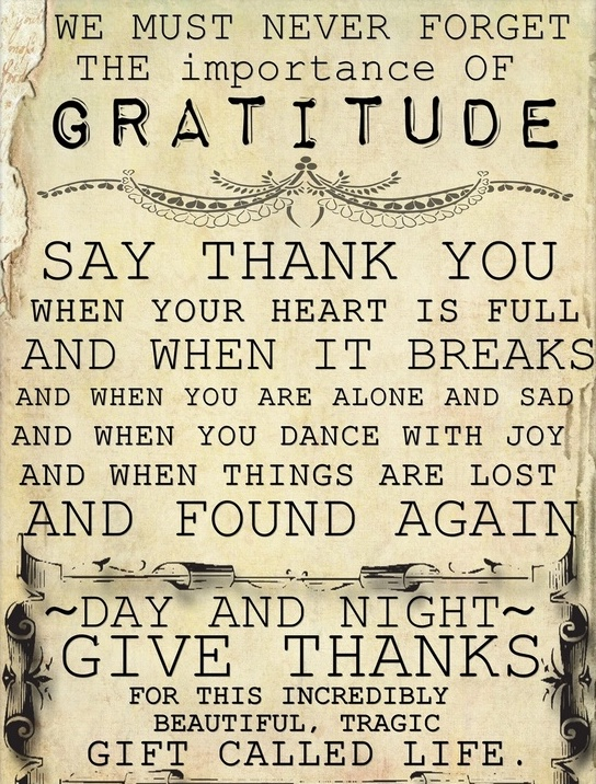 Say Thank You When...